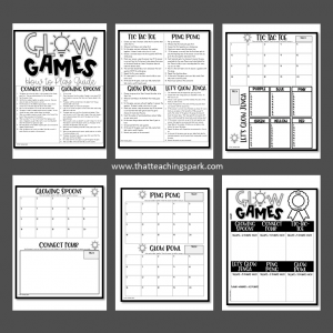Glow Games Student Booklet